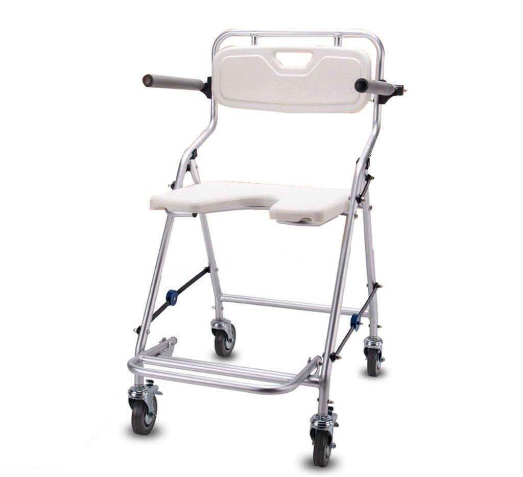 高齢者のためのバスチェアスツール高齢者のためのシャワーチェア婦人のためのスツールノンスリップ折りたたみ可能な最大荷重350kg/ホイール付き (色 : #1) B07F3YRFLW #1 #1