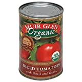 Muir Glen Organic Diced Tomatoes with Basil and Garlic -- 14.5 fl oz