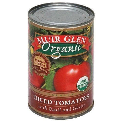 Muir Glen Organic Diced Tomatoes with Basil and Garlic -- 14.5 fl oz by Muir Glen (Image #1)
