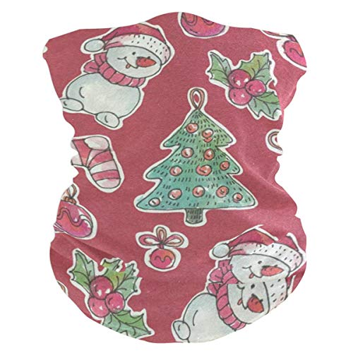 - Lovexue Christmas PatternHeadband Womens Bandana Mens Balaclava,Neck Warmer,Face Mask,Helmet Liner Facemask