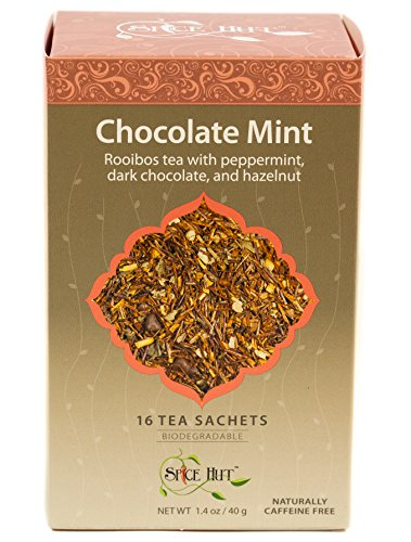 (The Spice Hut Rooibos Chocolate Mint Tea, 16 Count)