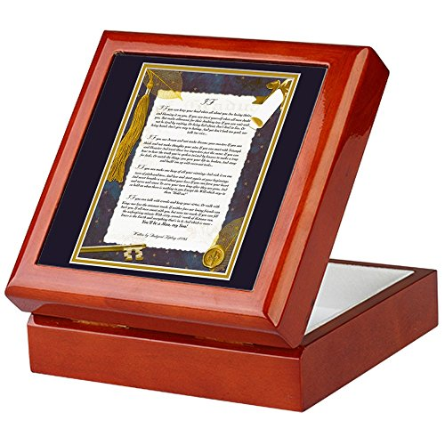 CafePress - IF By Rudyard Kipling - Keepsake Box, Finished Hardwood Jewelry Box, Velvet Lined Memento Box Mitzvah Hinged Box