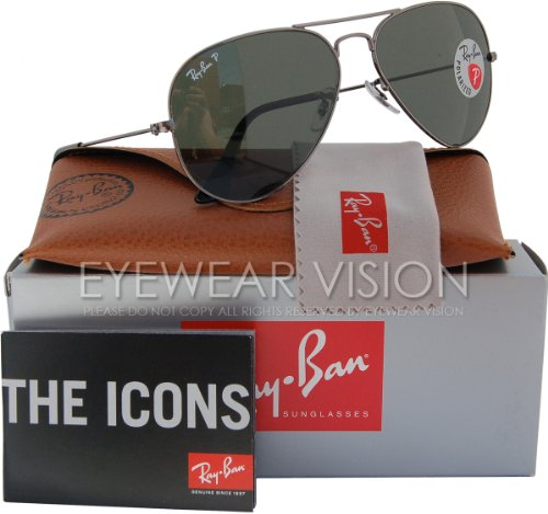 Ray-Ban RB3025 Aviator Polarized Sunglasses 004/58 RB 3025 - Aviator Ray Sunglasses Ban Authentic