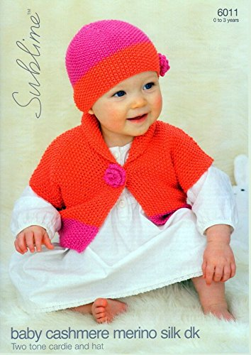 2fd73207c1e Image Unavailable. Image not available for. Color  Sublime Baby Cardigan   Hat  Cashmere Merino Silk Knitting ...