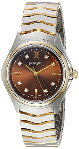 EBEL-Womens-Swiss-Quartz-18K-Gold-and-Stainless-Steel-Plated-Casual-Watch-ColorTwo-Tone-Model-1216318