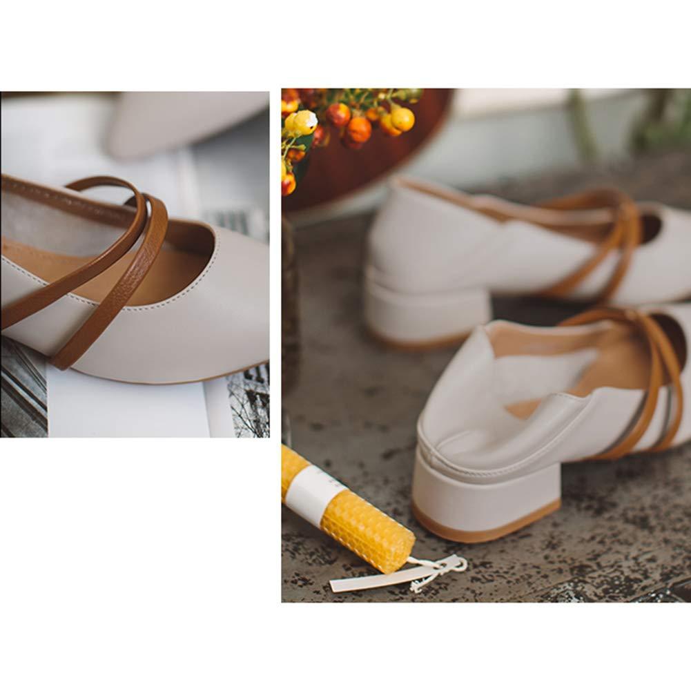 Damenschuhe HWF Frauen Schuhe PU-Leder Casual Bequeme Mode Mode Mode Flach Mund Fahren Schuhe Absatzhöhe 3,3 cm (Farbe   Beige größe   36) 5998dc