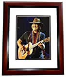 Willie Nelson Signed - Autographed Country Music Star - Concert 8x10 Photo MAHOGANY CUSTOM FRAME