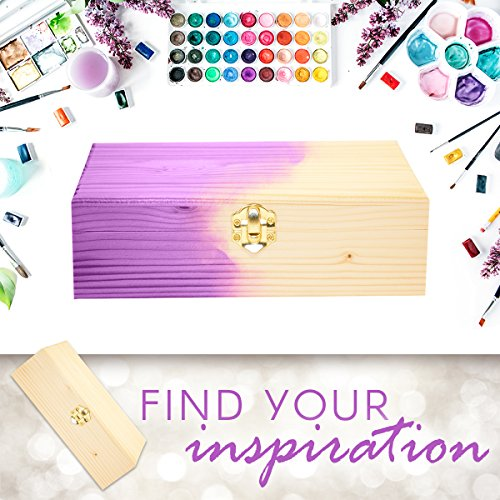 """Darice Craft Light Unfinished Wood with Clasp - Make Your Own Gift, Jewelry, Photo Decorate with Paint, Ribbon, Decoupage and More, 8.25"""" x 5.625"""" x 2.5"""", (1 Box)"""