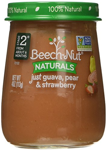 Beech-Nut Stage 2 Baby Food, Just Guava/Pear/Strawberry, 4.0 Ounce (Pack of (Beech Nut Pears)