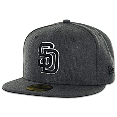 New Era 5950 San Diego Padres Fitted Hat (Graphite Heather/Black/White) MLB Cap