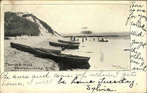 Barrow Island (The Old Hill Quonochontaug, Rhode Island Original Vintage Postcard)