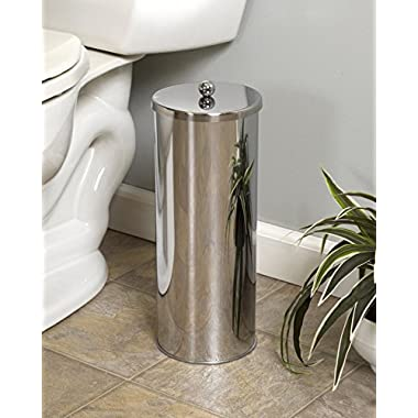 HUJI Rust Resistant Stainless Steel Toilet Paper Roll Canister Holder For Bathroom Storage (1, Toilet Paper Canister)