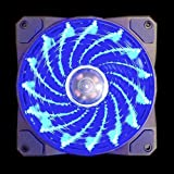 APEVIA 120mm Blue LED Case Fan w/ Anti-Vibration Rubber Pads