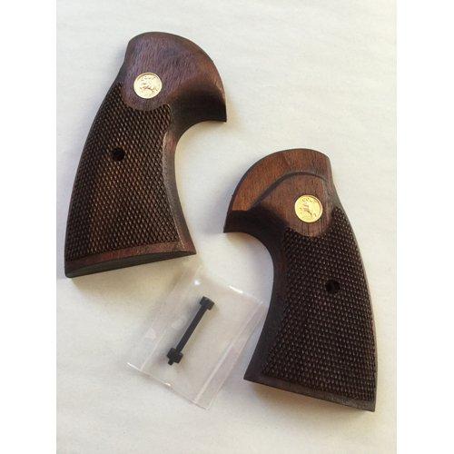 木製グリップ タナカ パイソン 用(2nd チェッカ/メダル) B07DJ6TPJC
