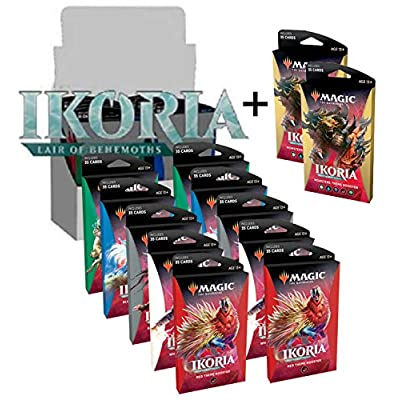 MTG Magic The Gathering Ikoria Lair of Behemoths Theme Booster Box - 10 Jumbo Packs of 35 Cards Each: Toys & Games