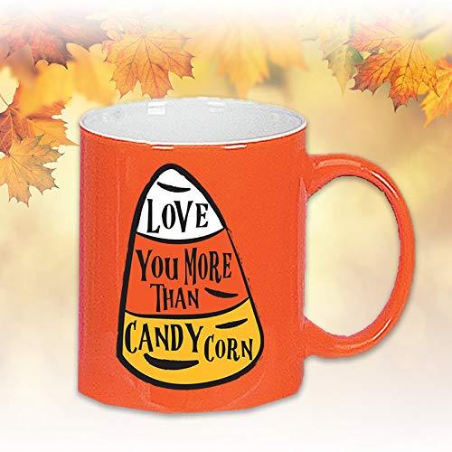 - Candy Corn, Parent Gift, Grandparent Gifts, Ceramic Mugs, Gag Gifts, Love You More Than Candy Corn Mugs, Orange Mugs, 11 oz Mugs