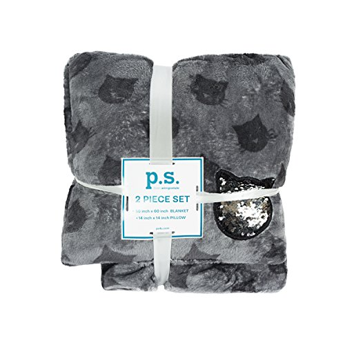 Cat Blanket (PS Aeropostale Girl Soft and Luxe Pillow with Sequin Cat and Blanket Set)