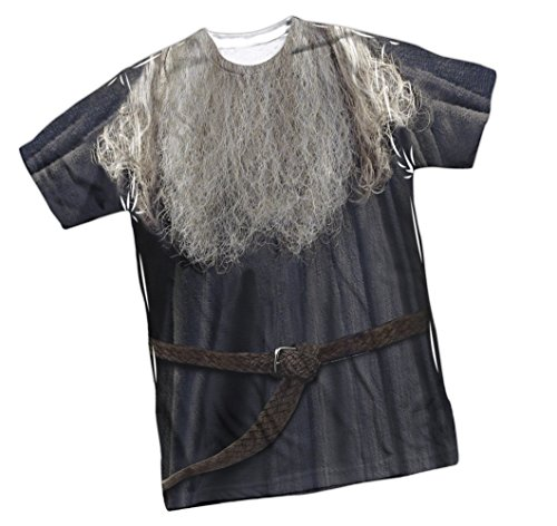 [Gandalf Costume -- Lord Of The Rings Front Print Sports Fabric T-Shirt, Large] (Kili Fili Costume)