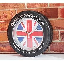 GJX Creative UK/USA/flag tire Bell Clock Alarm clock , a