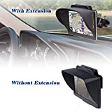 TFY GPS Navigation Sun Shade Visor Plus Flexible Visor Extension Piece for Garmin nüvi 42LM 4.3-Inch Portable GPS and Other 5-Inch GPS