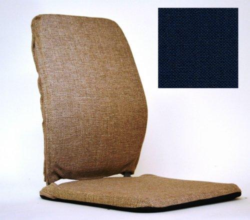Deluxe Memory Foam Back Cushion Finish: Blue