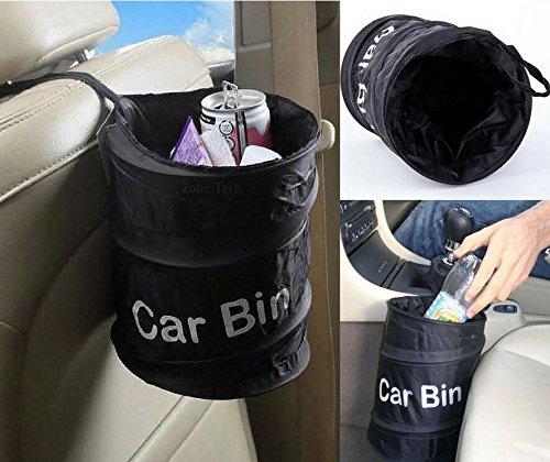 Jinzhicheng portatile pieghevole auto pattumiera spazzatura rifiuti borsa resistente all' acqua (nero)
