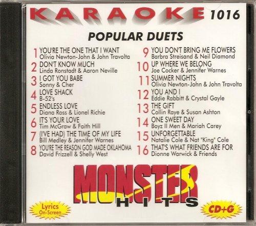 Monster Hits Vol. 1016 Karaoke CDG POPULAR - Olivia Nat And