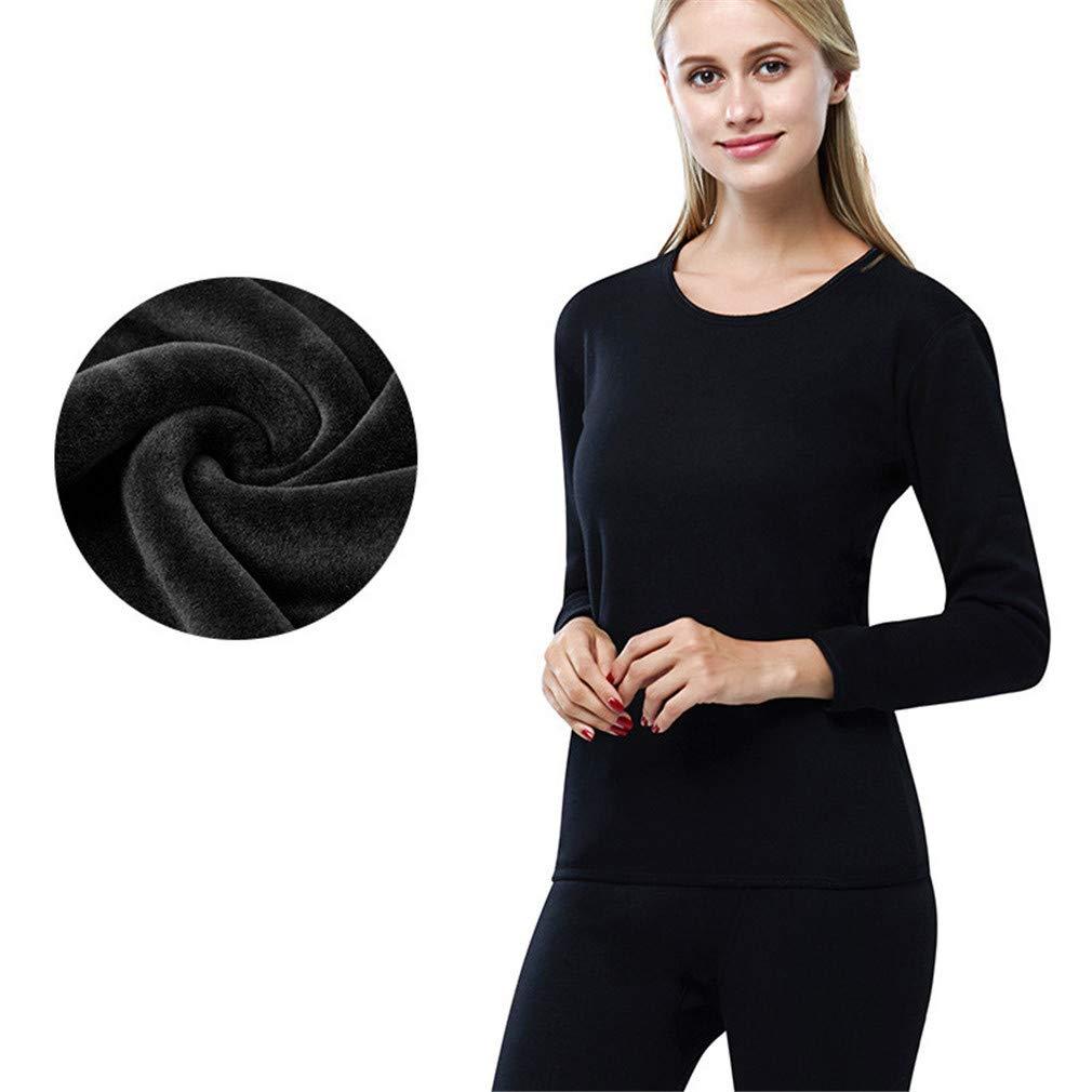 Hibote Uomo Donna Set Intimo Termico Maglia Alta qualità T-Shirt Maniche Lunghe & Pantaloni Invernali Traspirante Cotone Confortevole Invernale Caldo Morbido Uomo L-3XL Z181123A4-X