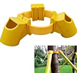 SYOOY Tree Stakes Kit Tree Fixation Support Tool for Plant Windbreak Protection Include 1 Tie 3 Goblets Diameter 2'' Plastic Yellow - Support Legs Not Included