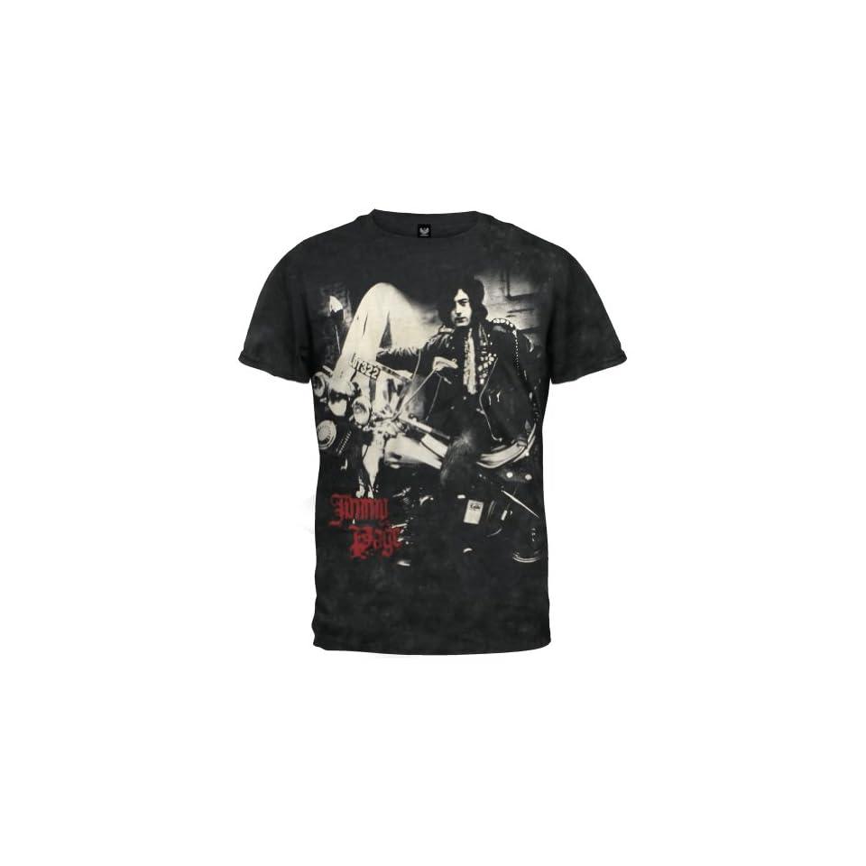 Led Zeppelin   Mens Page Yardbird Tie Dye T Shirt Large Black