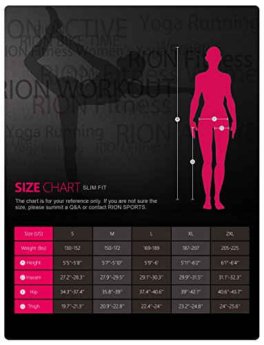 RION Active Women's Workout Yoga Running Compression Tights Tummy Control Leggings