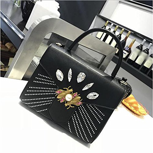 Brown Shoulder Zipper Bag Pu Women's Red Black Bags Gmyan qwx48AaZn