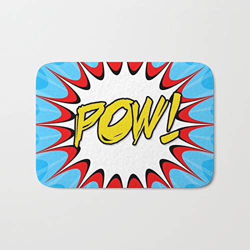 Amazoncom Pow Comic Book Print Bath Mat Custom Memory Foam Bath