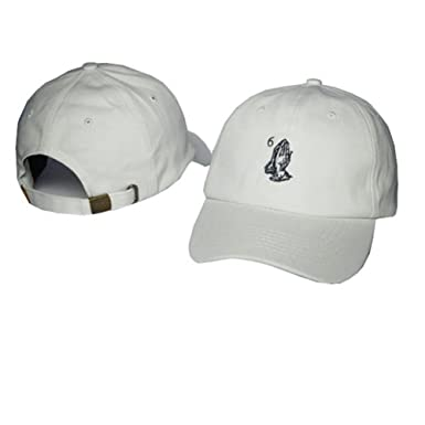 ec0c6d27fb303 SHUIMODQ Baseball Cap Unisex Praying Hands Embroidered Unstructured  Adjustable Dad Hat (White) at Amazon Women s Clothing store