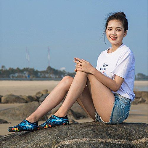 Donna Blu 1 Immersione Estate Spiaggia Swim Acquatici 34 per Surf Shoes 47EU Luce da Uomo Scarpette Accogliente Aqua Beach Yoga Sport Scarpe 1nwqpRa1