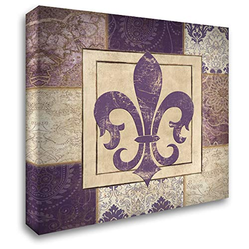 ArtDirect Paisley Fleur DE LYS 20x20 Gallery Wrapped Stretched Canvas Art by Ballantyne, Piper