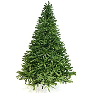BEAMNOVA Artificial Christmas Tree Unlit 7.5 ft w/Stand 1400 Tips Quick Set Up 98