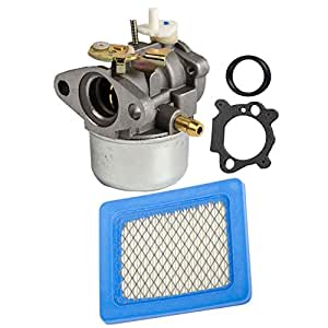 ouyfilters carbure Tor for briggn & Stratton 497586499059Lawn Mower Pressure Washer Rotary 14112Oregon 50–658with Air Filter For 491588491588S