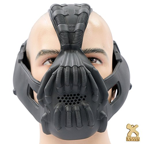 Halloween TDKR Bane Mask Prop Accessories for Bane Cosplay Costume DIY (Bane Mask Voice Changer)