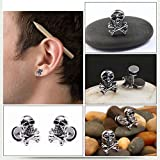 1pc Men Women Skull Ear Stud Earring Fashion Personality Jewelry Gift New