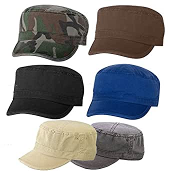 MG Enzyme Washed Cotton Twill Cap - 6 pack