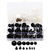 New 154pcs 6-24mm Black Plastic Safety Eyes For Teddy Bear Doll Animal Puppet Crafts One Box