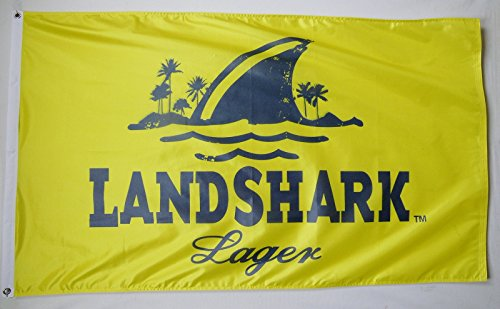 LANDSHARK Lager Beer Flag 3' X 5' Deluxe Indoor Outdoor Banner