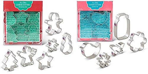 Ann Clark Cookie and Fondant Cutters - Christmas and Flower Garden
