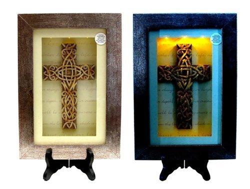 - Iwgac Home Indoor Outdoor Office Decor Spiritual Harvest Celtic Cross Lighted Shadow Box