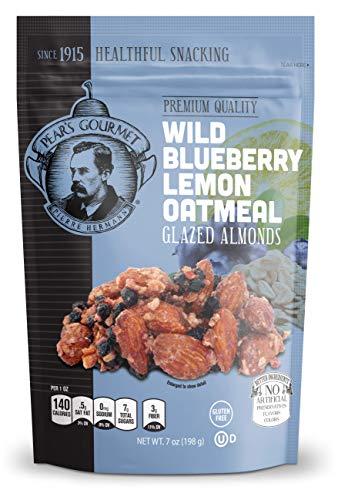 Wild Blueberry Lemon Oatmeal Glazed Almonds, Gluten Free, 7 oz