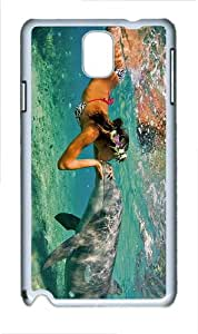 spec cover dolphin girl kiss PC White case/cover for Samsung Galaxy Note 3 N9000
