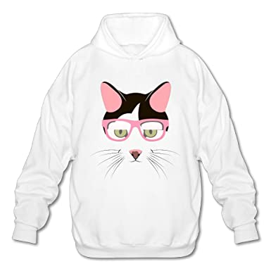 71083f4c94 Cartoon Cat Men s Novelty Slim Long Sleeve Hoodie Tie Dye For University  Sweatshirt