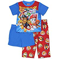 Paw Patrol Boys 3 Piece Shorts Pajamas Set (Toddler) by Nickelodeon