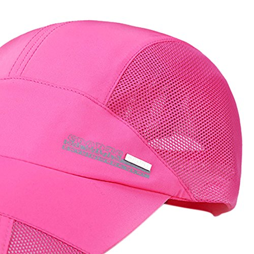 Panegy Unisex Adults Nylon Sun Protection Hat Mesh Cotton Cap for Fishing Hiking Rose Pink by Panegy (Image #3)